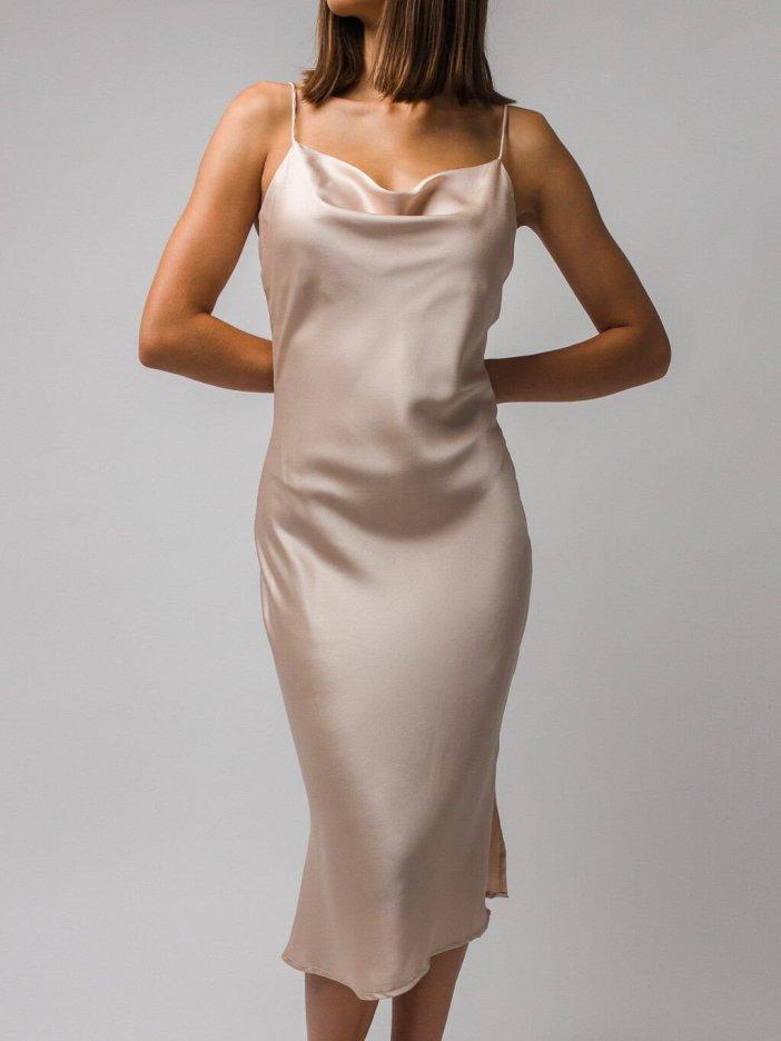 Béžové šaty Shanti