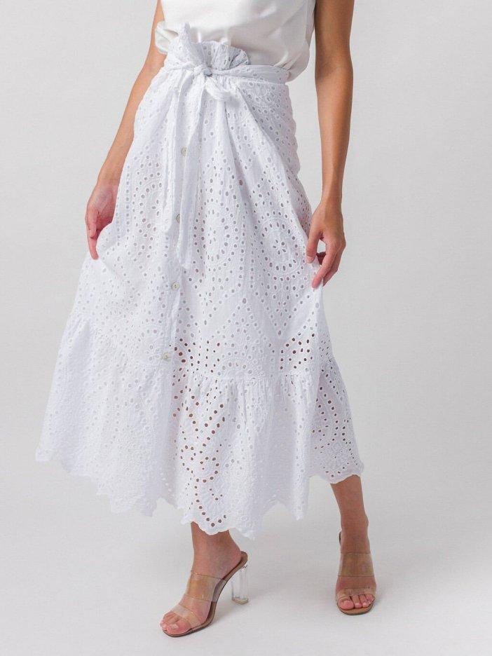 Biela sukňa Baya