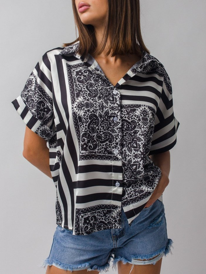 Čierno-biela košeľa Gale