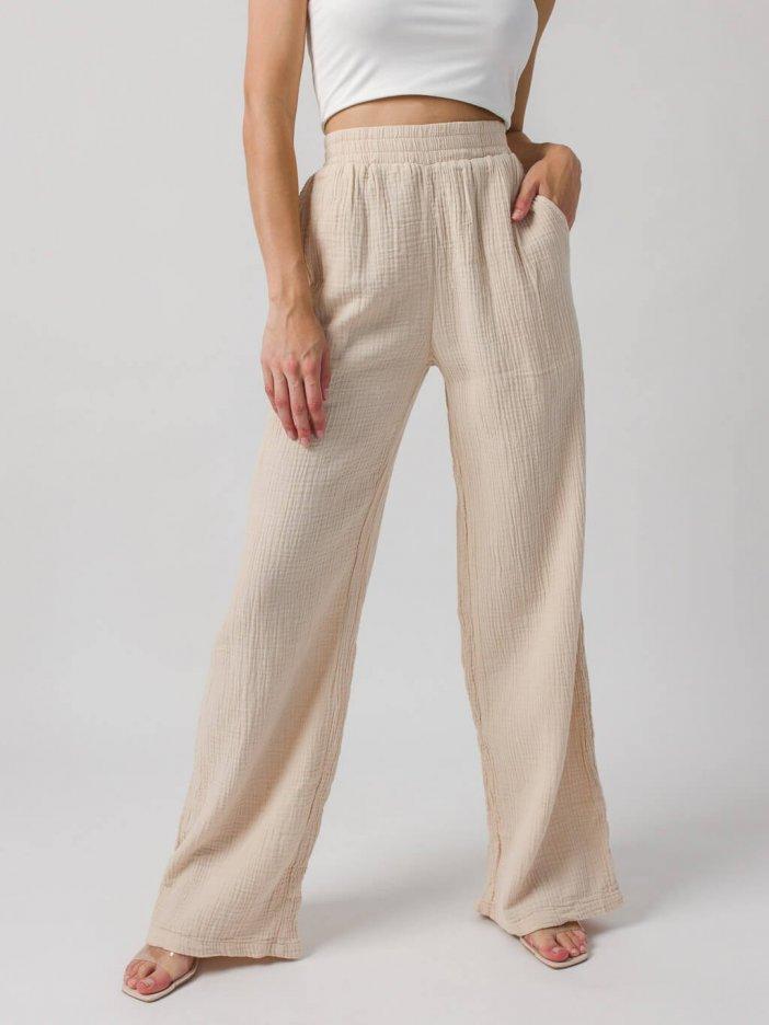 Béžové nohavice Darla