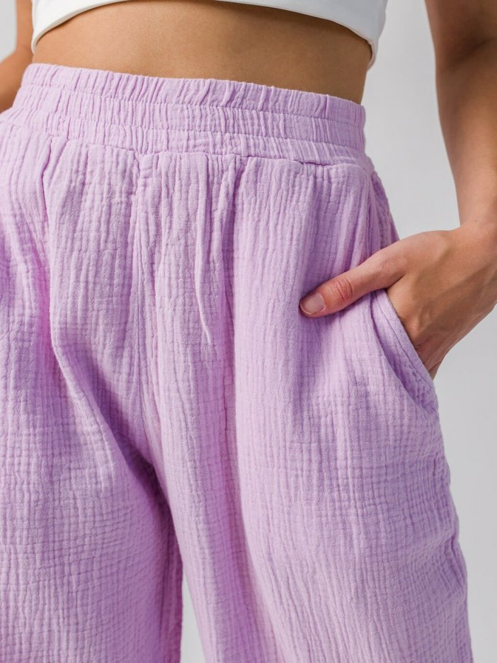 Fialové nohavice Darla
