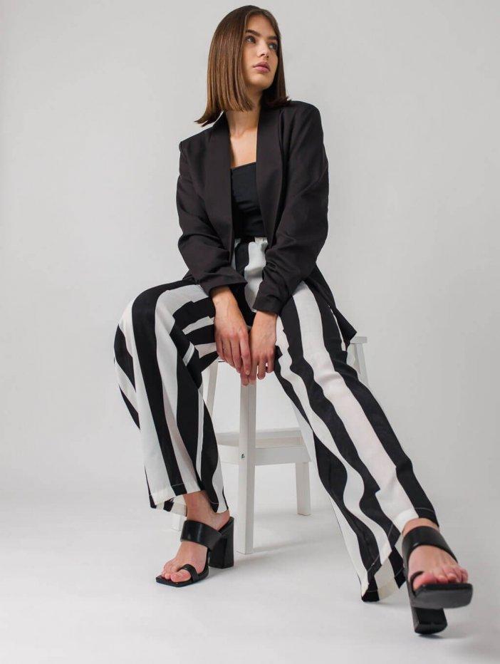 Čierno-biele nohavice Gianna