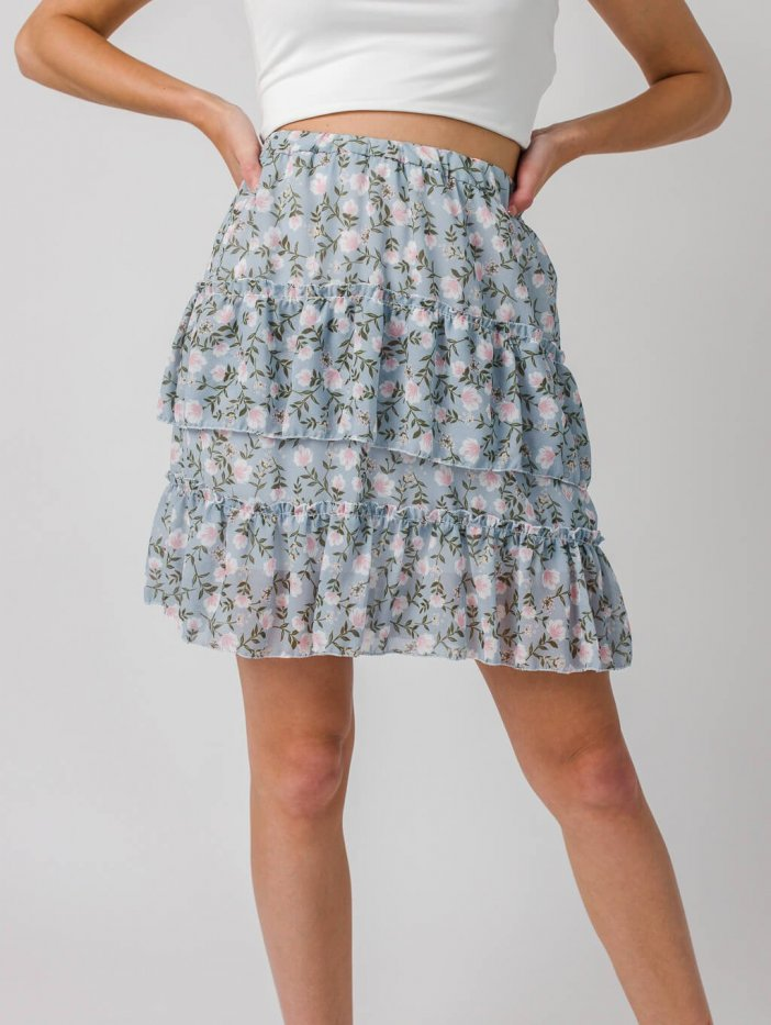 Modrá sukňa Lessie