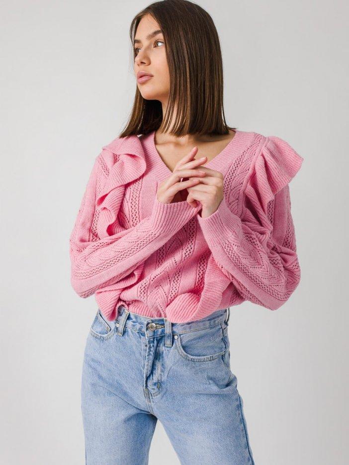 Ružový sveter Colynn
