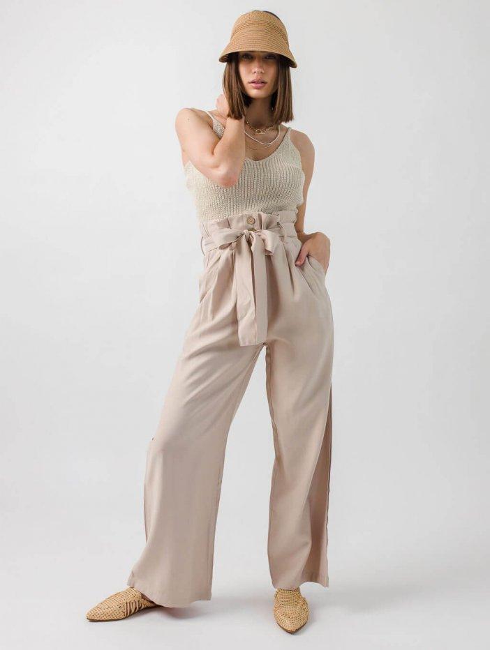 Béžové nohavice Adrianne