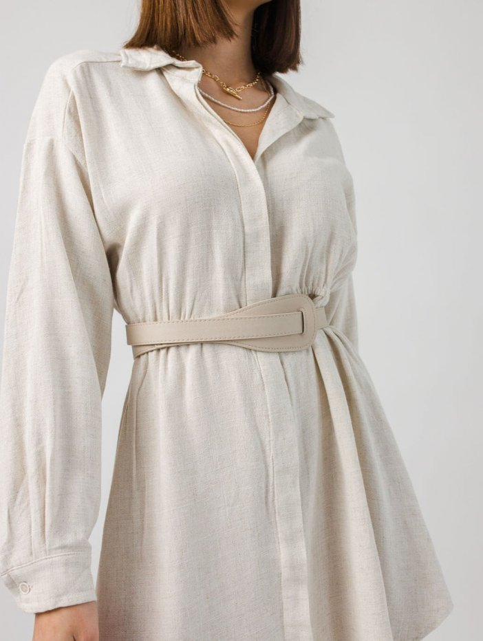 Béžové šaty Christie