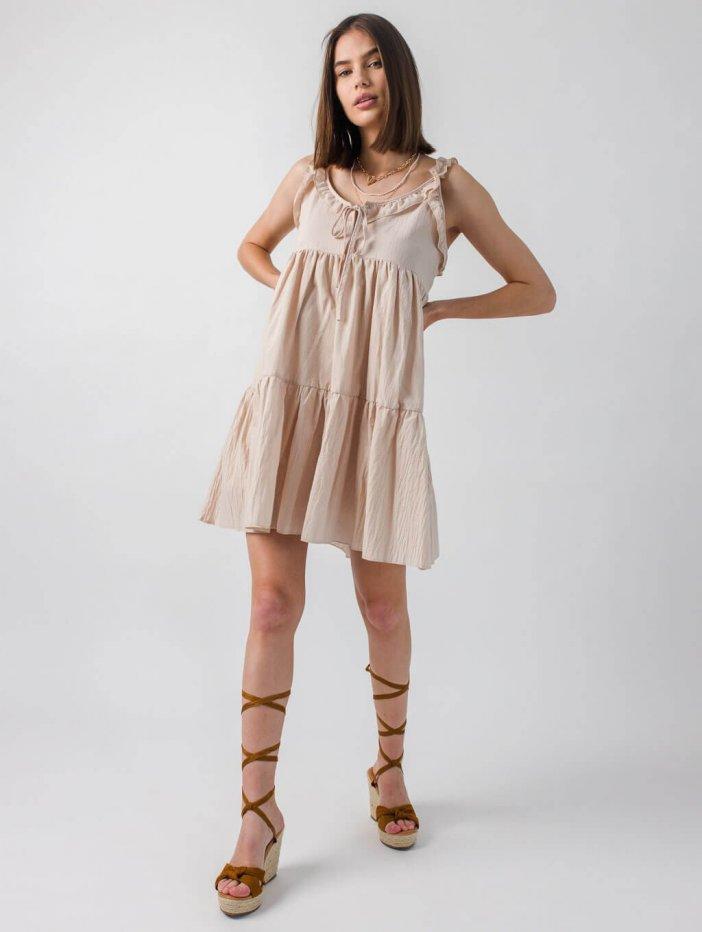 Béžové šaty Madis