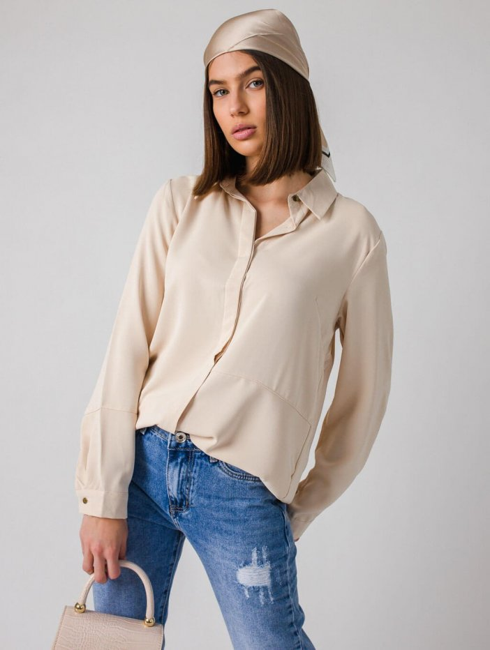 Béžová košeľa Triola