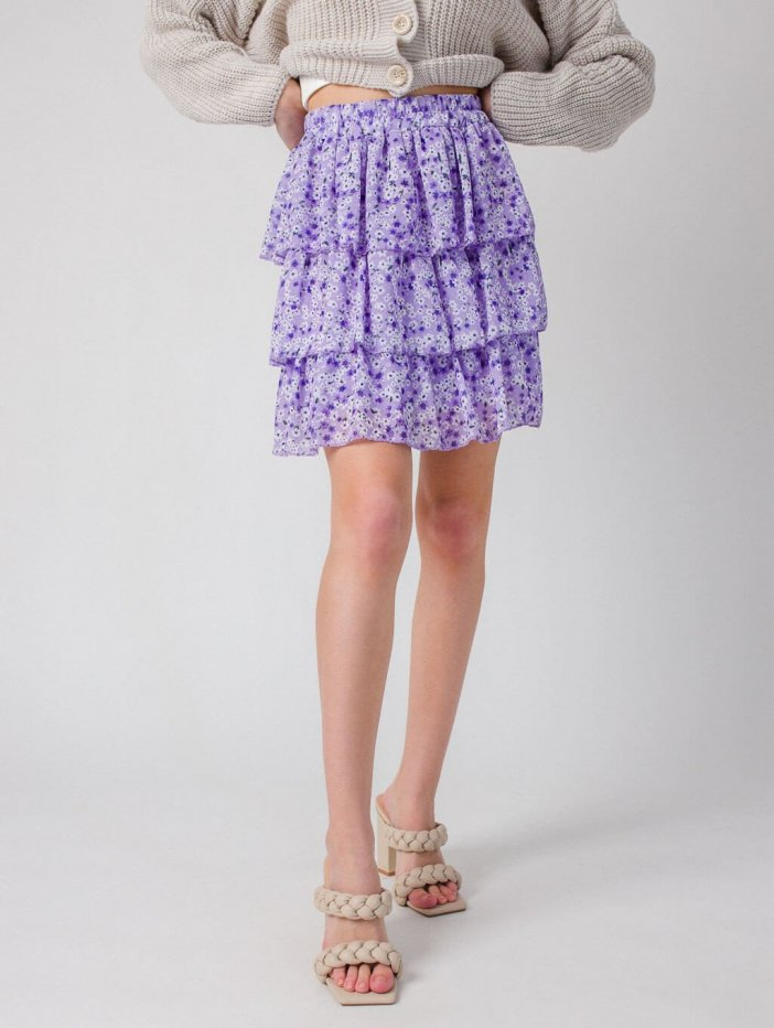 Fialová sukňa Flori