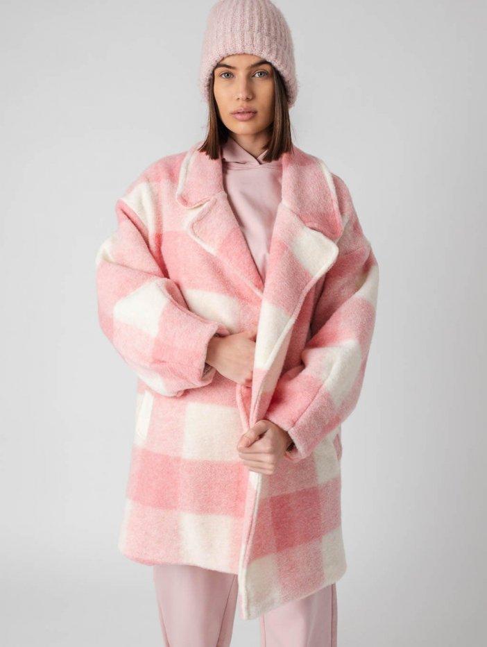 Ružovo-biely kabát Spencer