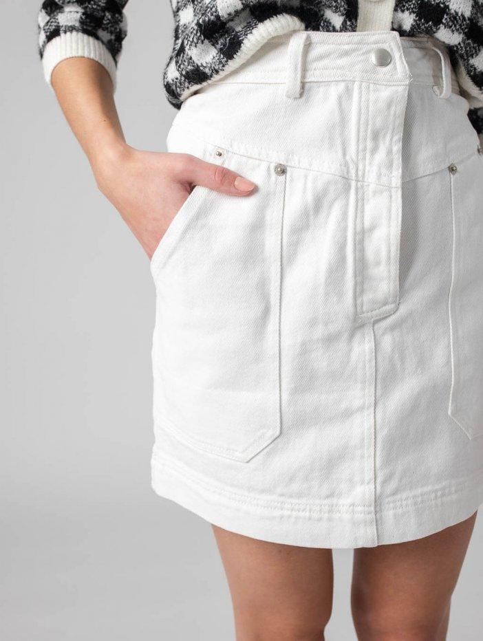 Biela sukňa Iris