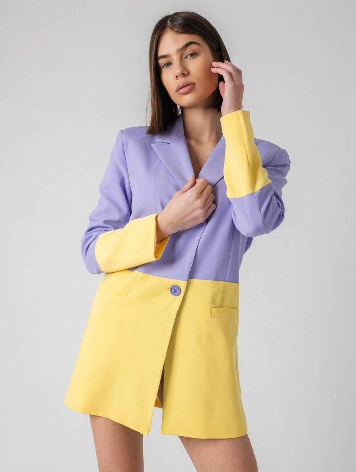 Fialovo-žlté sako Irene