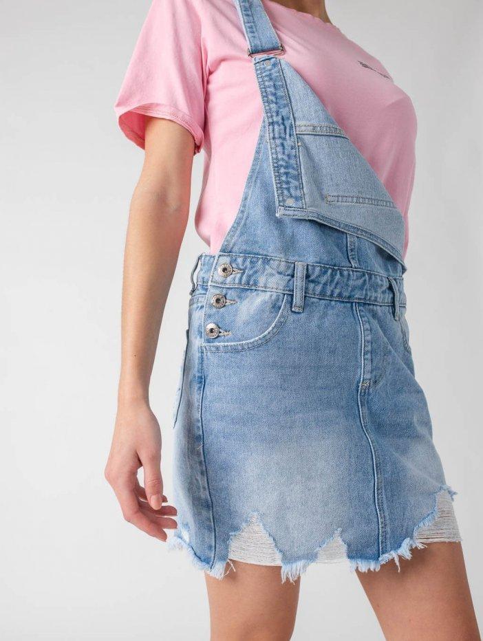 Rifľová sukňa na traky Celeste
