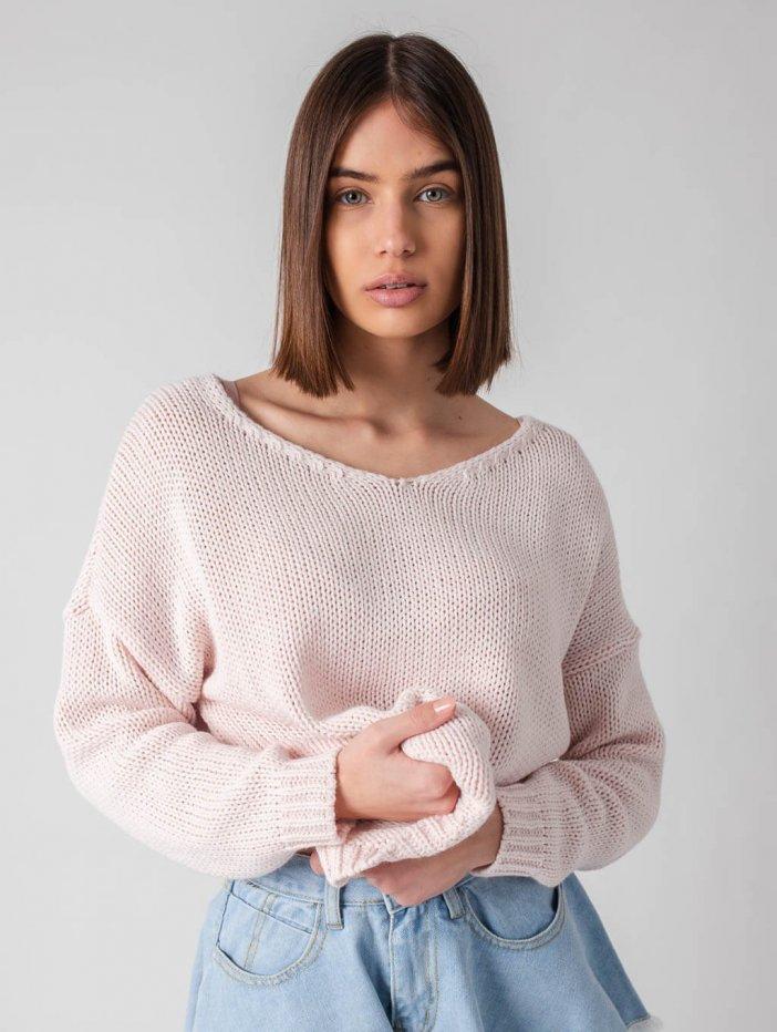 Ružový sveter Classic