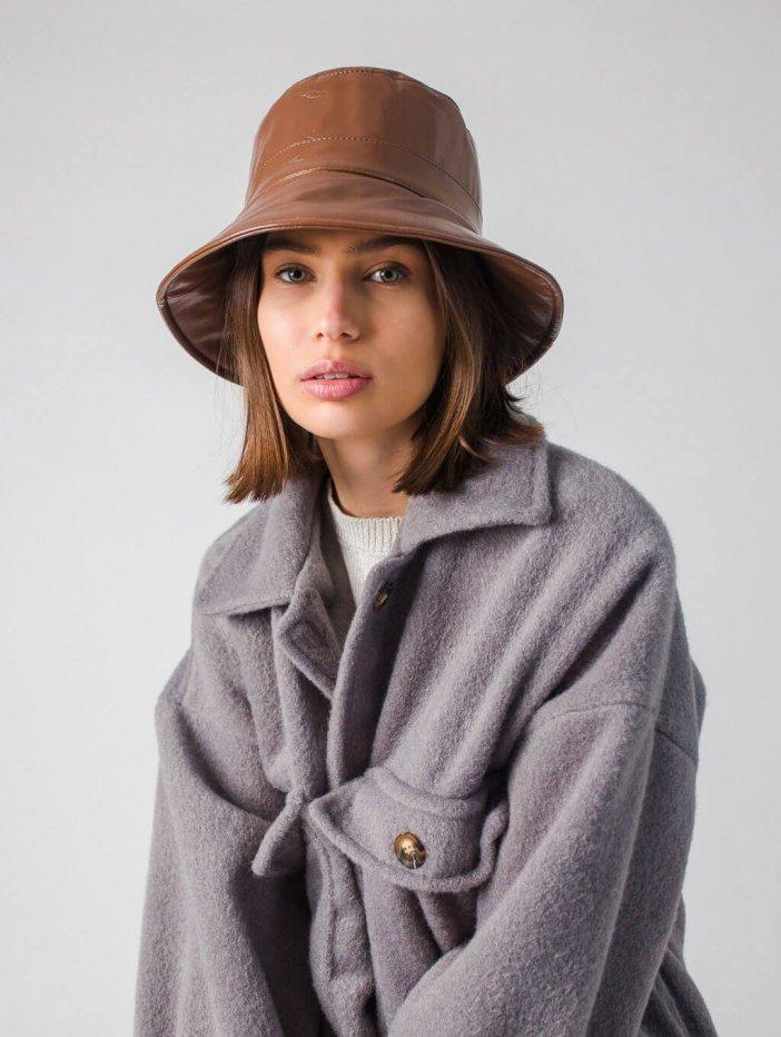 Tmavohnedý klobúk Venna