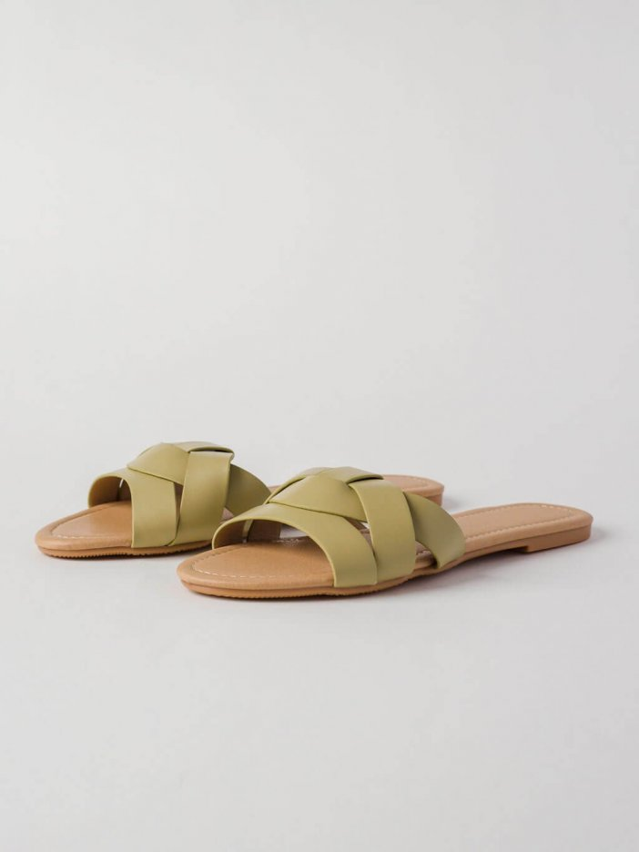 Zelené šľapky Barica
