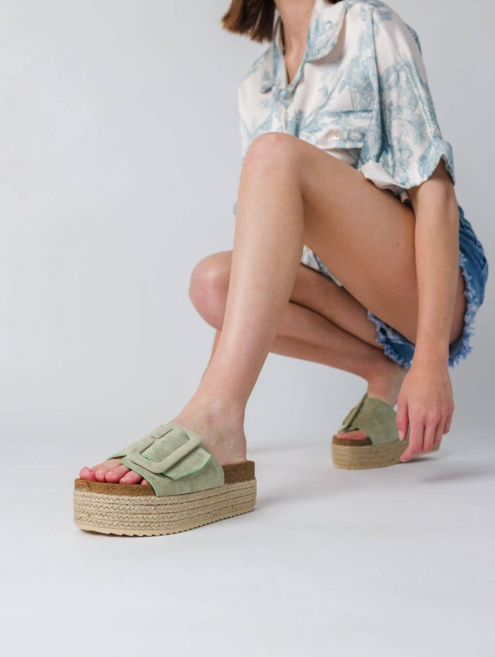 Zelené šľapky Kerim