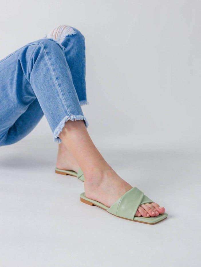 Zelené šľapky Rissy