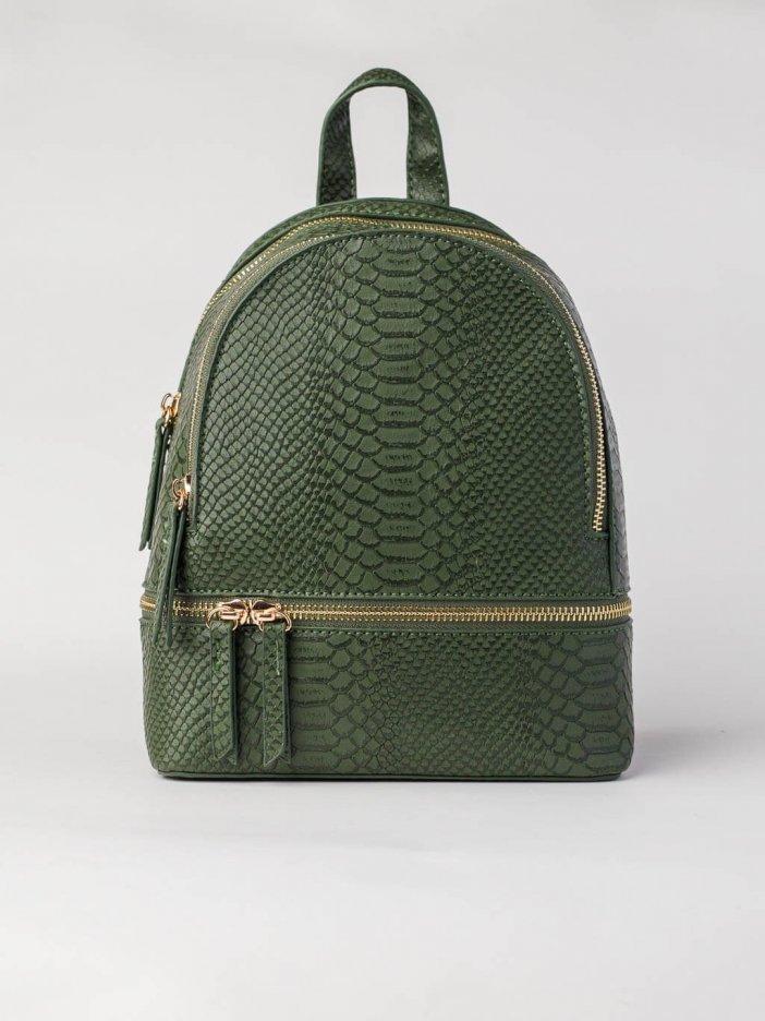 Tmavozelený ruksak Jinny