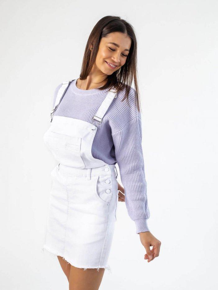 Biela sukňa na traky Ivona