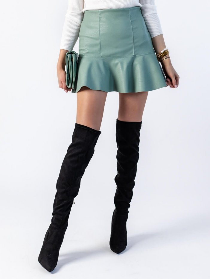 Bledozelená sukňa Peggie