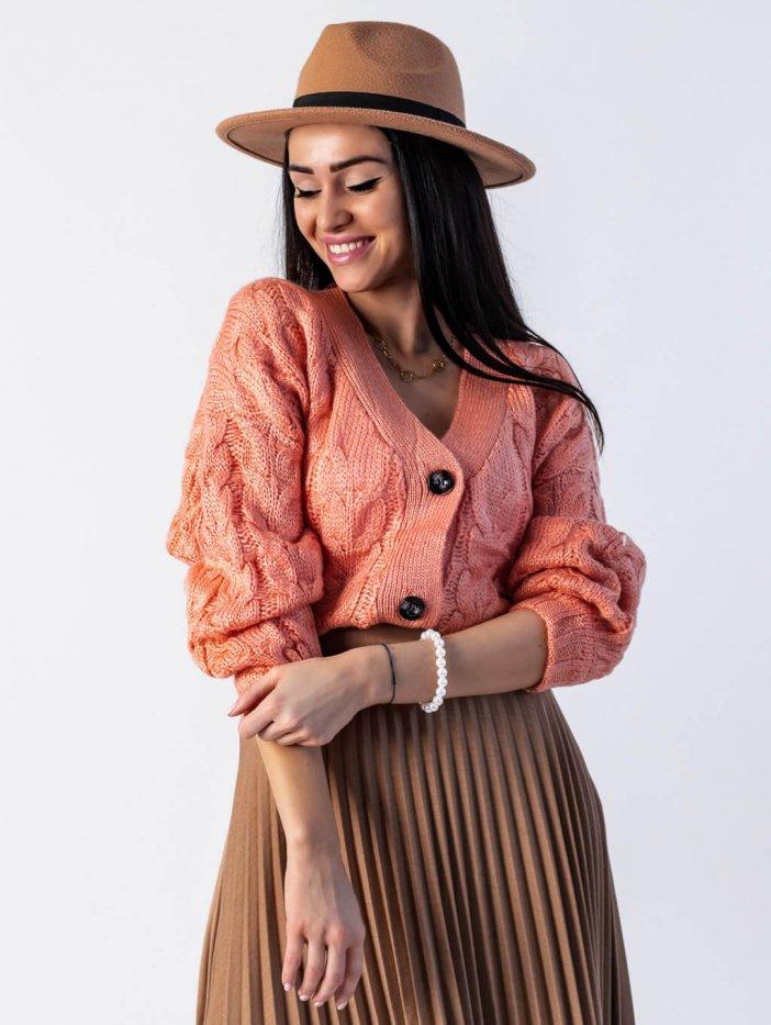 Oranžovo-ružový sveter Missie