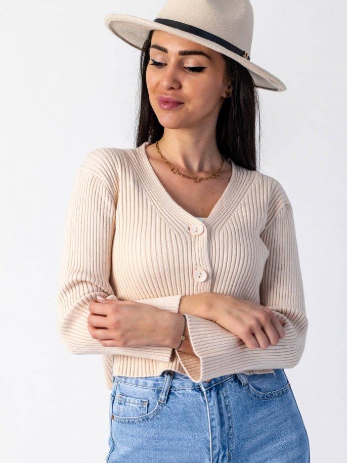 Béžový sveter Lydia