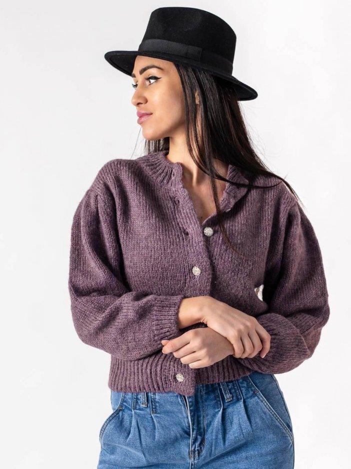 Tmavofialový sveter Isabella