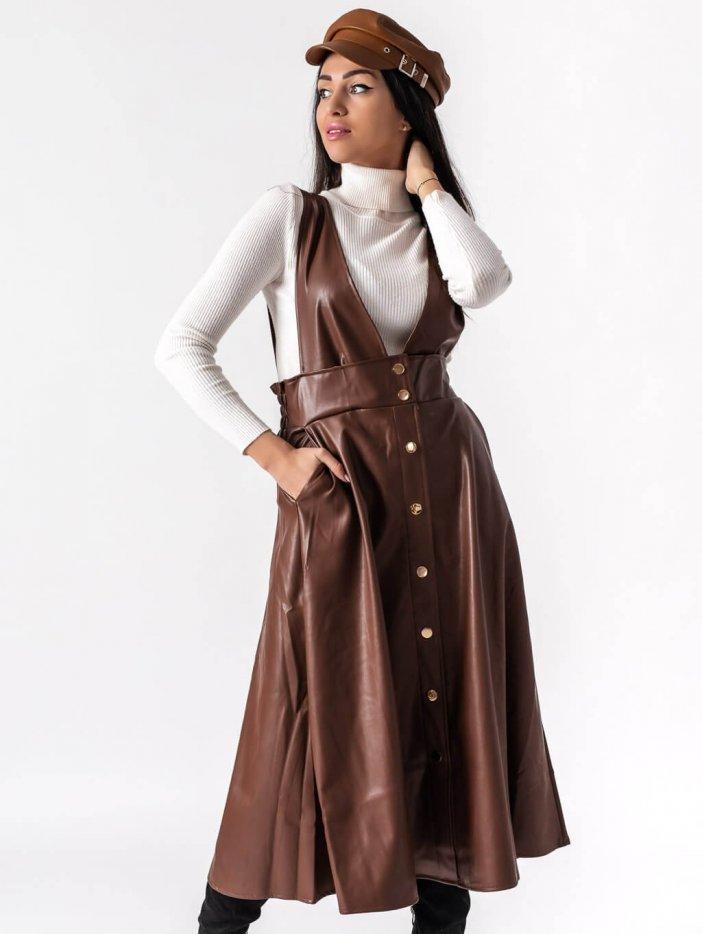 Tmavohnedá sukňa Eliana