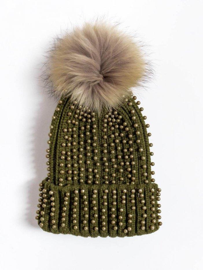 Zelená čiapka Nicolas