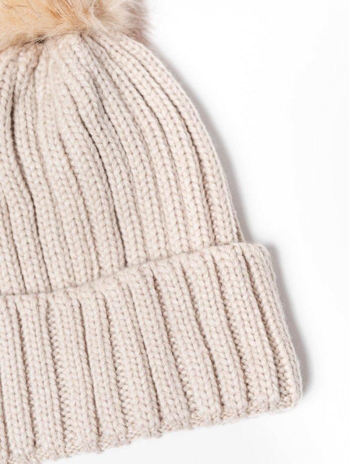 Béžová pletená čiapka Adley