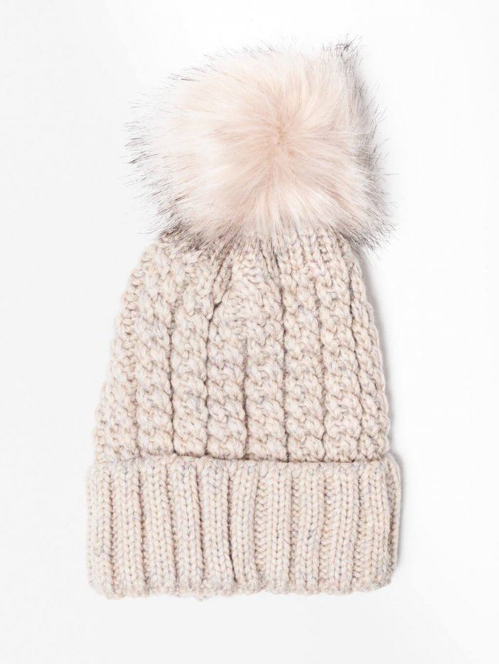 Béžová pletená čiapka Zakky