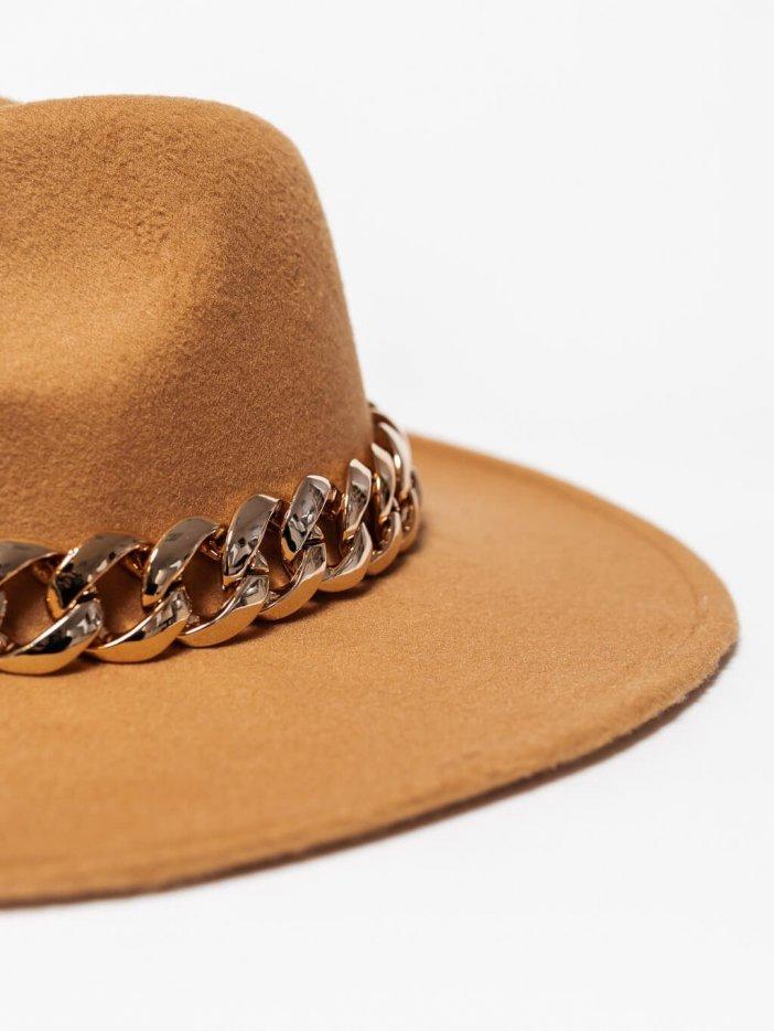 Hnedý klobúk Dariga