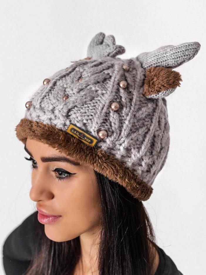 Sivá čiapka Reindeer