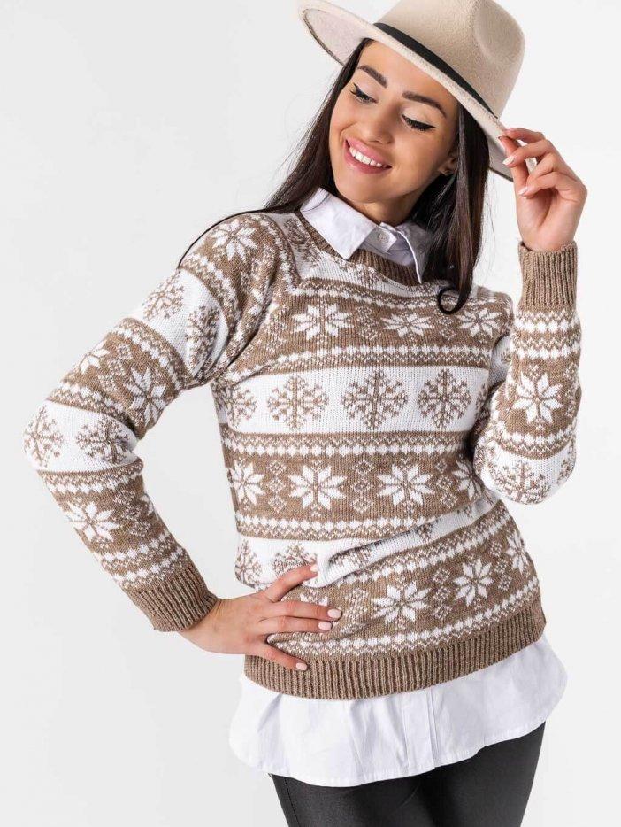 Béžový sveter Snow