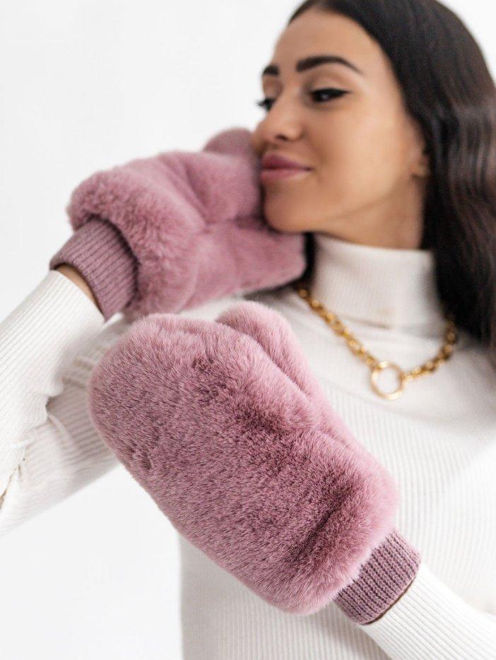 Ružovo-fialové rukavice Fanny
