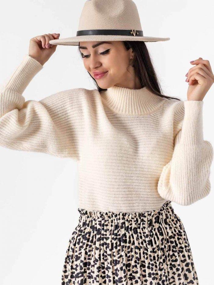 Smotanový sveter Dorota