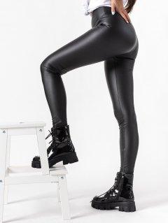 Čierne kožené legíny Tessa