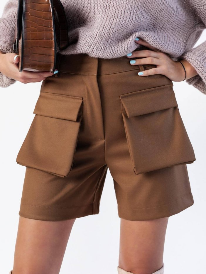 Hnedé šortky Theon