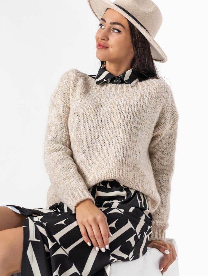 Béžový sveter Theo