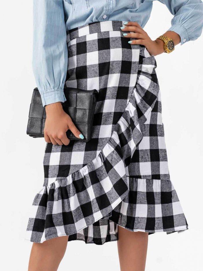 Čierno-biela sukňa Marcus
