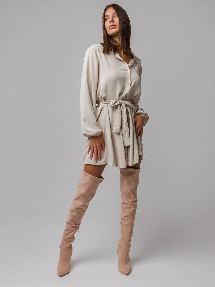 Béžové šaty Dores