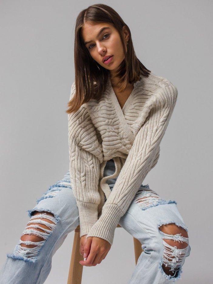 Béžový sveter Jenna