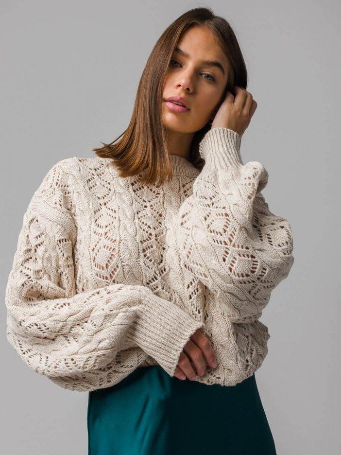 Béžový sveter Zielna