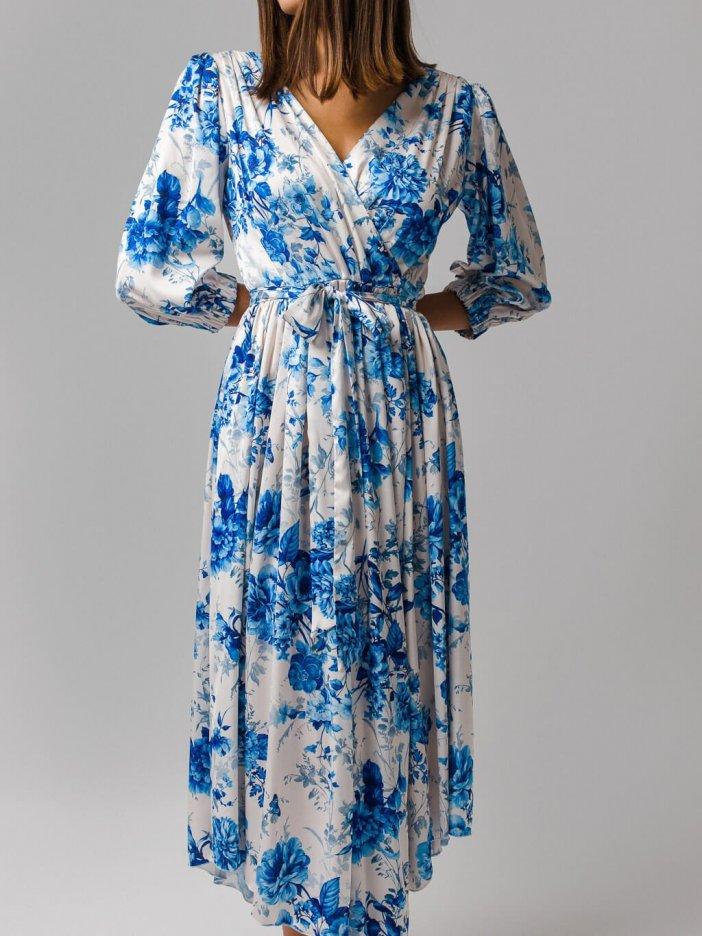 Bielo-modré šaty Tiffany