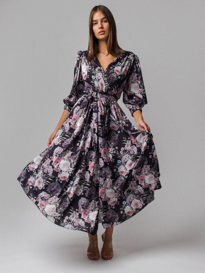Čierno-ružové šaty Tiffany