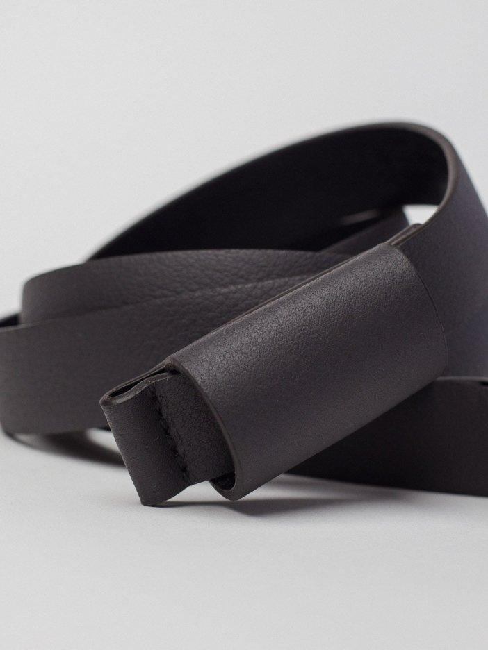 Čierny kožený opasok Theo