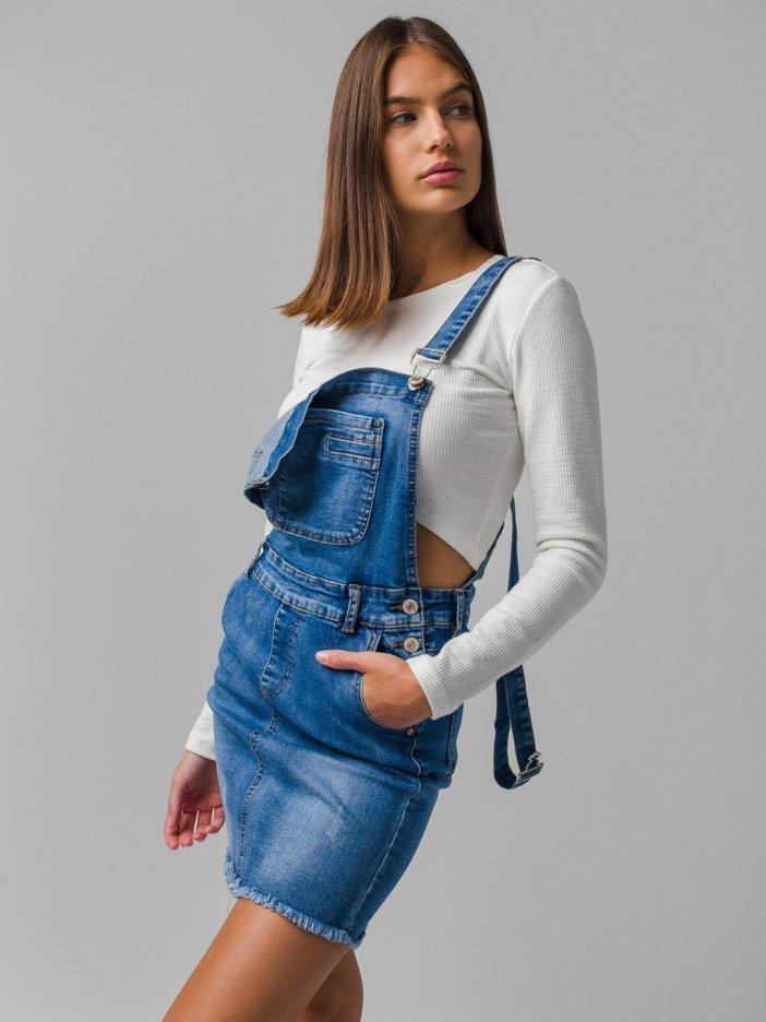 Rifľová sukňa na traky Ivona