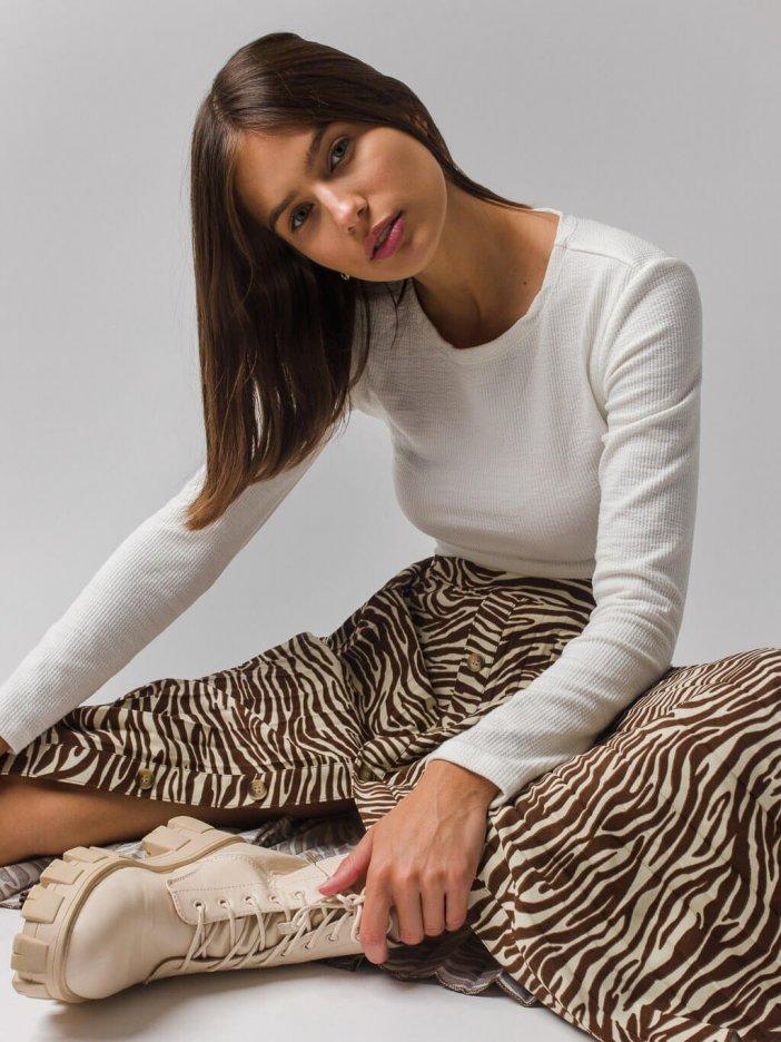 Vzorovaná sukňa Renna