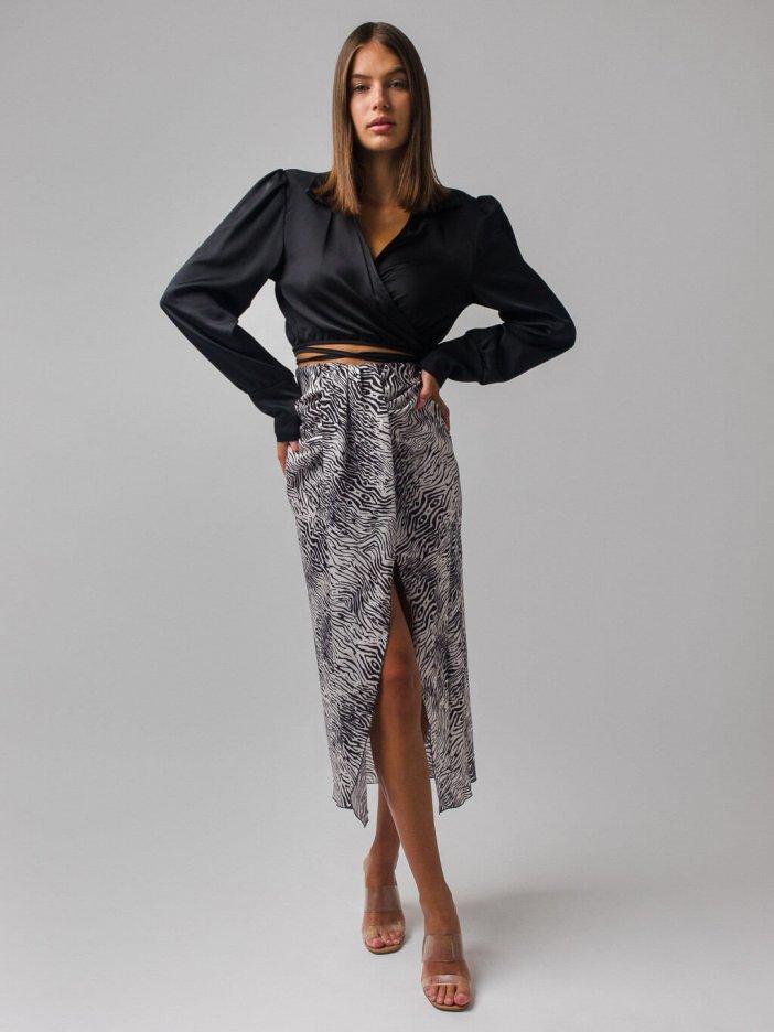 Zebrovaná sukňa Balae